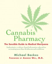 Cover of book called Cannabis Pharmacy